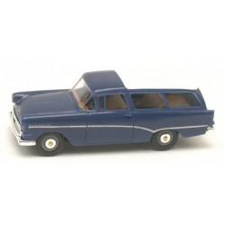 Opel Rekord PI CarAvan 1957 bleu foncé à toit blanc
