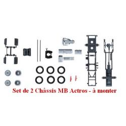 Set de 2 châssis de tracteur MB Actros Lowliner (Taille Basse) - kit à monter