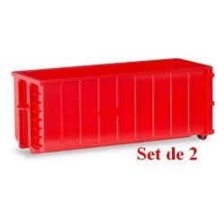 Set de 2 bennes déposables rouges