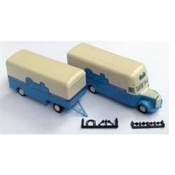 MB L 311 camion + remorque fourgon Quelle