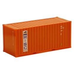 """container 20' Dry crénelé """"MISC"""" orange"""