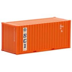 """container 20' dry crénelé """"SCI"""""""