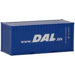 """container 20' dry crénelé """"DAL"""""""