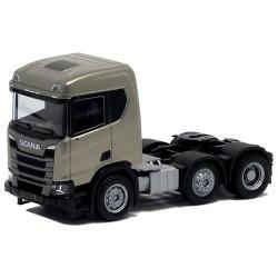 Scania CR XT Tracteur solo 6x2 version chantier champagne métallisé