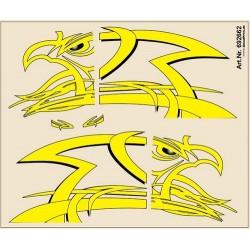 Planceh de décalcomanies jaunes pours Scania Longline