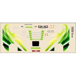 Planche de décalcomanies (tons verts) pour Scania S 2016