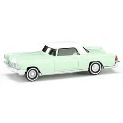 Ford Continental coupé vert clair et toit blanc (1959)