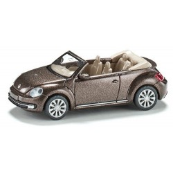 VW Beetle cabriolet ouvert brun café métallisé