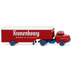 "Saviem + semi-remorque fourgon ""Kronenbourg Bière d'Alsace"" (F)"
