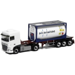 Daf XF SC Euro 6 + semi-rqemorque Porte container 20' Alcosuisse