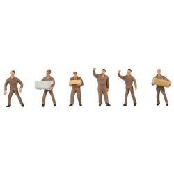 """Personnel de logistique """"UPS"""" (6 figurines)"""