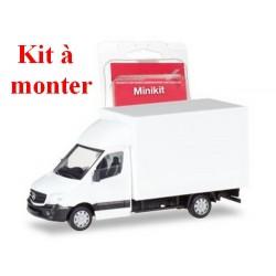 MB Sprinter '13 fourgon rapporté avec spoiler (kit à monter ) en blanc