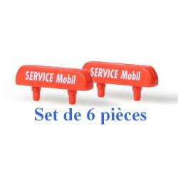 """Set de 6 panneaux de toit """"Service Mobil"""""""