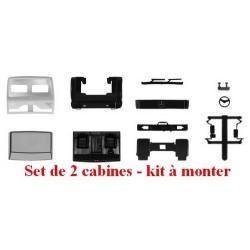 Set de 2 cabines MB SK courtes (en blanc) - kit à monter