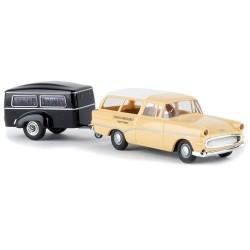 """Opel Rekord P1 CarAvan + remorque corbillard """"Sargschreinerei"""""""