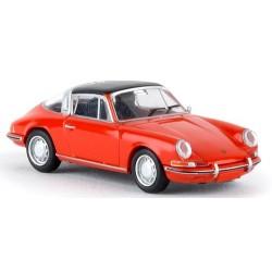 Porsche 911 (type 901 - 1966) Targa rouge cabriolet fermé