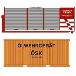 """Set d'une berce déposable et d'un container 20' """"Feuerwehr Bremen"""""""