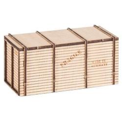 Caisse en bois (kit à monter) - Taille : 51 x 27 x 24 mm