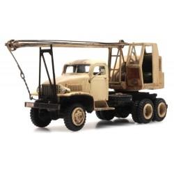 GMC 353 cabine tôlée camion grue