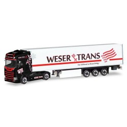 "Scania CS 20 HD + semi-remorque frigorifqiue ""Weser Trans"""