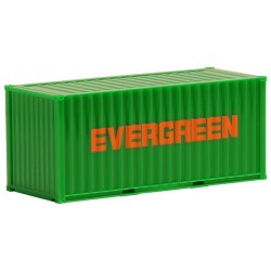 "Container 20' crénelé ""Evergreen"""