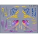 Planche de décalcomanies pour Scania R  violet et bleu