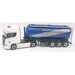 """Scania CR 20 HD  + semi-remorque silo 42cm3 """"Kropf Transporte""""  (CH)"""
