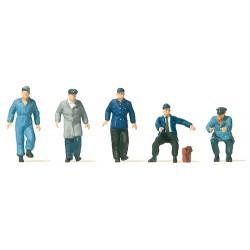 Set de personnel de gare de chariots de quai