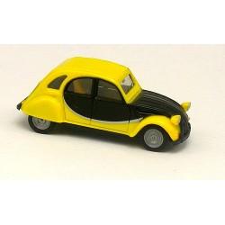 Citroen 2cv Charleston jaune et noire