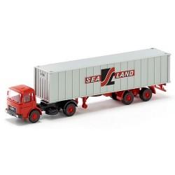 """MAN F8 + semi-remorque Porte container 40' """"Sealand"""""""