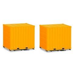 Set de 2 containers 10' orange clair