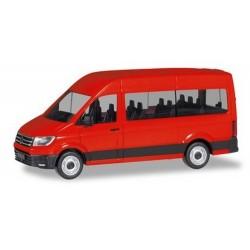VW Crafter minibus toit réhaussé rouge