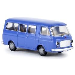 Fiat 238 minibus bleu distant
