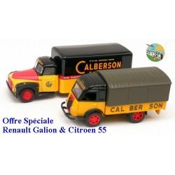 Set Calberson : Citroen 55 fourgon& Renault Galkion bâché