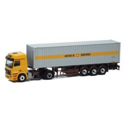 "MB Actros L 02 + semi-remorque Pte container 40' ""Berstchi AG"" (CH)"