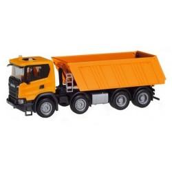 Scania CG 17 8x4 camion benne orange