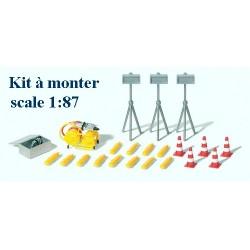 Set d'intervention : Projecteurs, cônes, groupe-électrogène et cisailles (en kit à monter)
