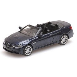 BMW M4 cabriolet ouvert de 2015 gris foncé métallisé