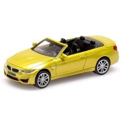 BMW M4 cabriolet  de 2015 jaune d'or métallisé