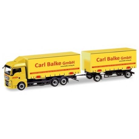 "MAN TGX XLX camion + remorque Porte caisses tautliner ""Carl Balke GmbH"""