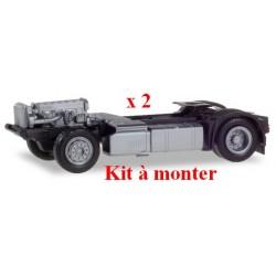 Set de 2 châssis Tracteur 4x2 Iveco Stralis (kit à monter)