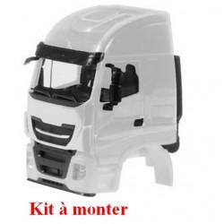 Set de 2 cabines Iveco Stralis sans déflecteur en blanc (kit à monter)