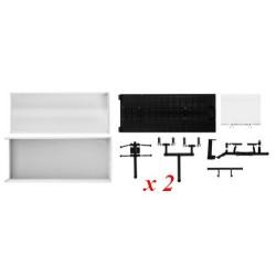 Set de 2 caisses bâchées (70 mm) pour porteur avec hayon de chargement - kit à monter