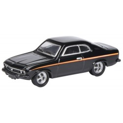 Opel Manta A coupé noir à bande orange (1970)