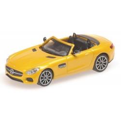 MB AMG GTS roadster 2015 ouvert jaune métallisé