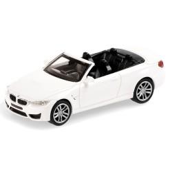 BMW M4 cabriolet ouvert de 2015 blanc