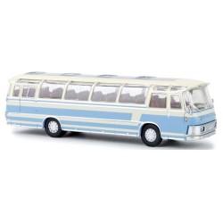 Neoplan NH 12 autocar bleu ciel et crème (version Neoplan Henschel plus large)