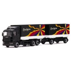 """Scania 124 camion + remorque Pte caisses bâchées """"Ziegelmeier"""""""