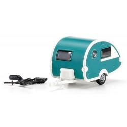 Caravane modern T@B verte et blanche