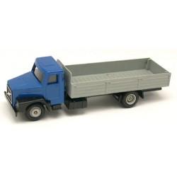 Volvo N10 bleu camion avec ridelles basses grises